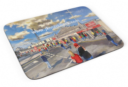 pittodrie going to the match  Premium Quality Mouse mat (1)